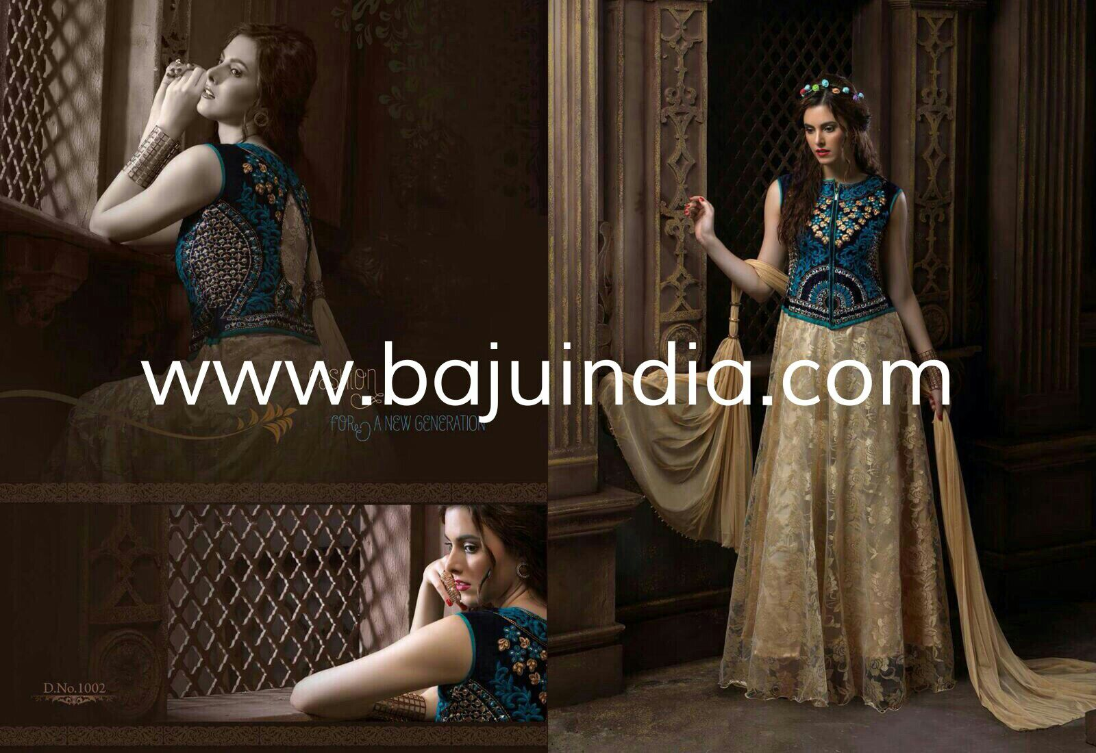 Baju India Muslim - Baju India Modern - Baju Khas India - Baju Adat India - Sari India Terbaru - Sari India Muslim - Baju Kerajaan India - Baju Salwaar India - D.No.1002