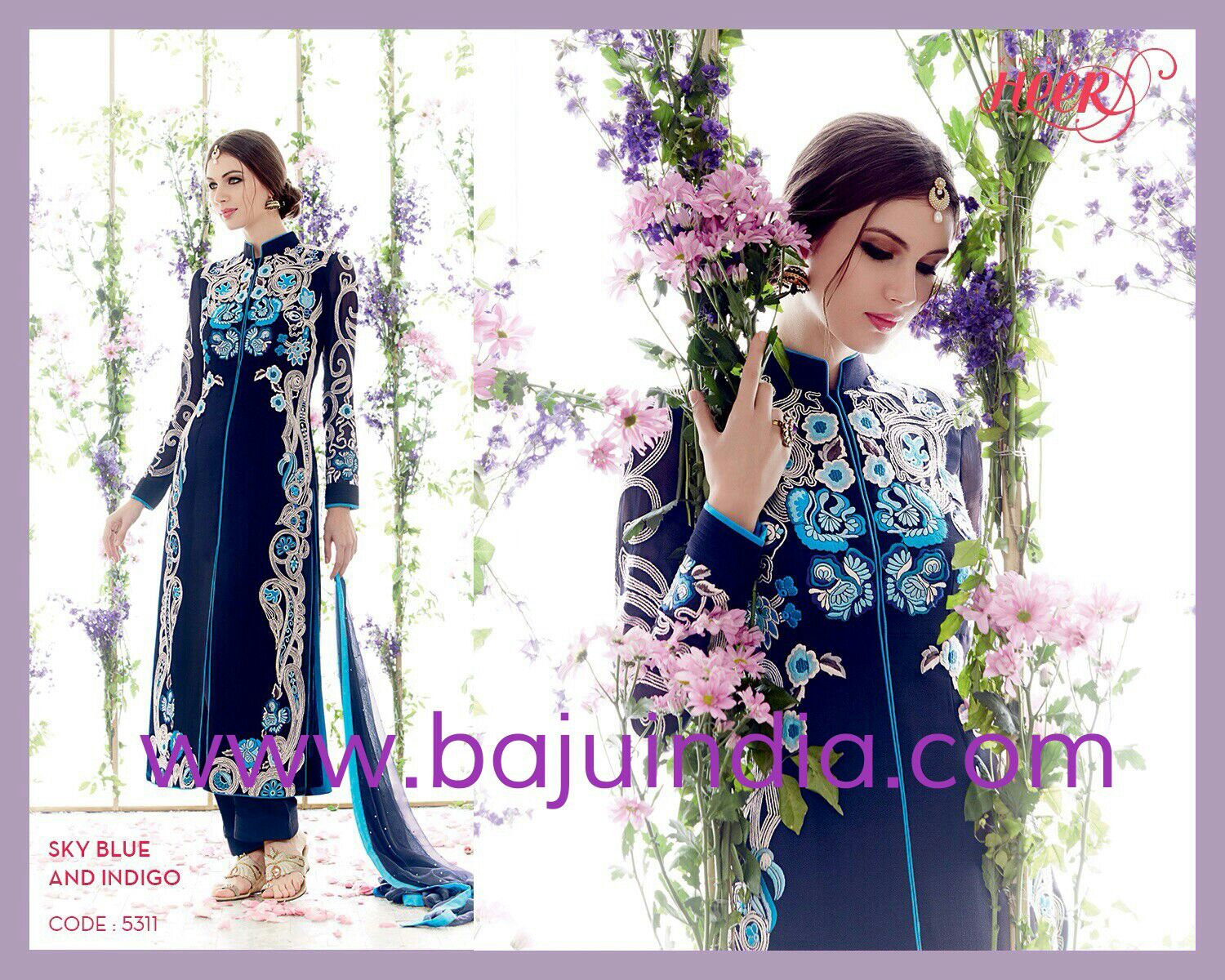 Baju India Muslim - Baju India Modern - Baju Khas India - Baju Adat India - Sari India Terbaru - Sari India Muslim - Baju Kerajaan India - Baju Salwaar India - HEER-5311