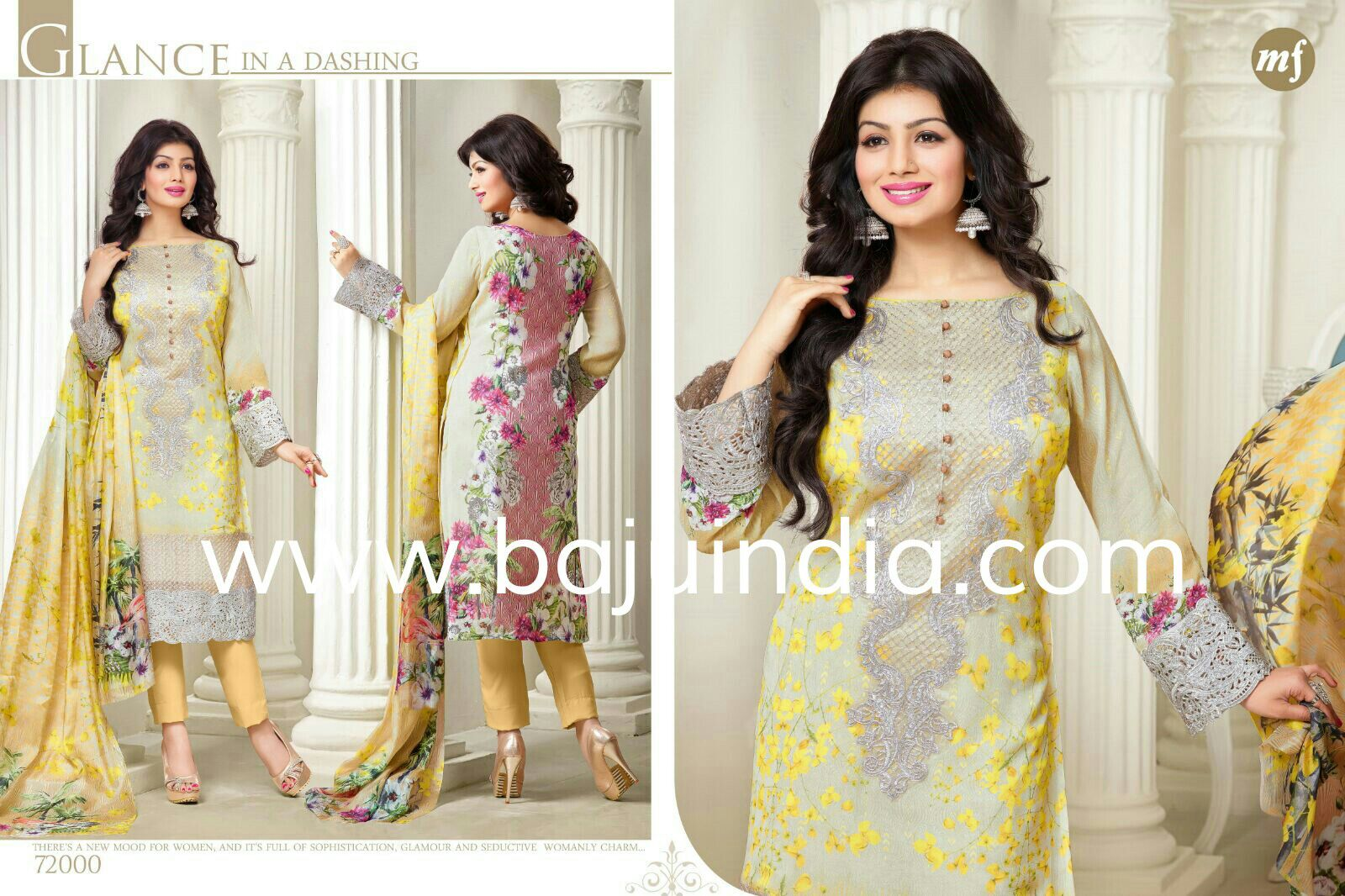 Baju India Muslim - Baju India Modern - Baju Khas India - Baju Adat India - Sari India Terbaru - Sari India Muslim - Baju Kerajaan India - Baju Salwaar India - MF 72000