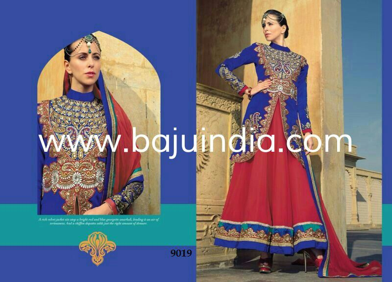 Baju India Muslim - Baju India Modern - Baju Khas India - Baju Adat India - Sari India Terbaru - Sari India Muslim - Baju Kerajaan India - Baju Salwaar India - SK-9019