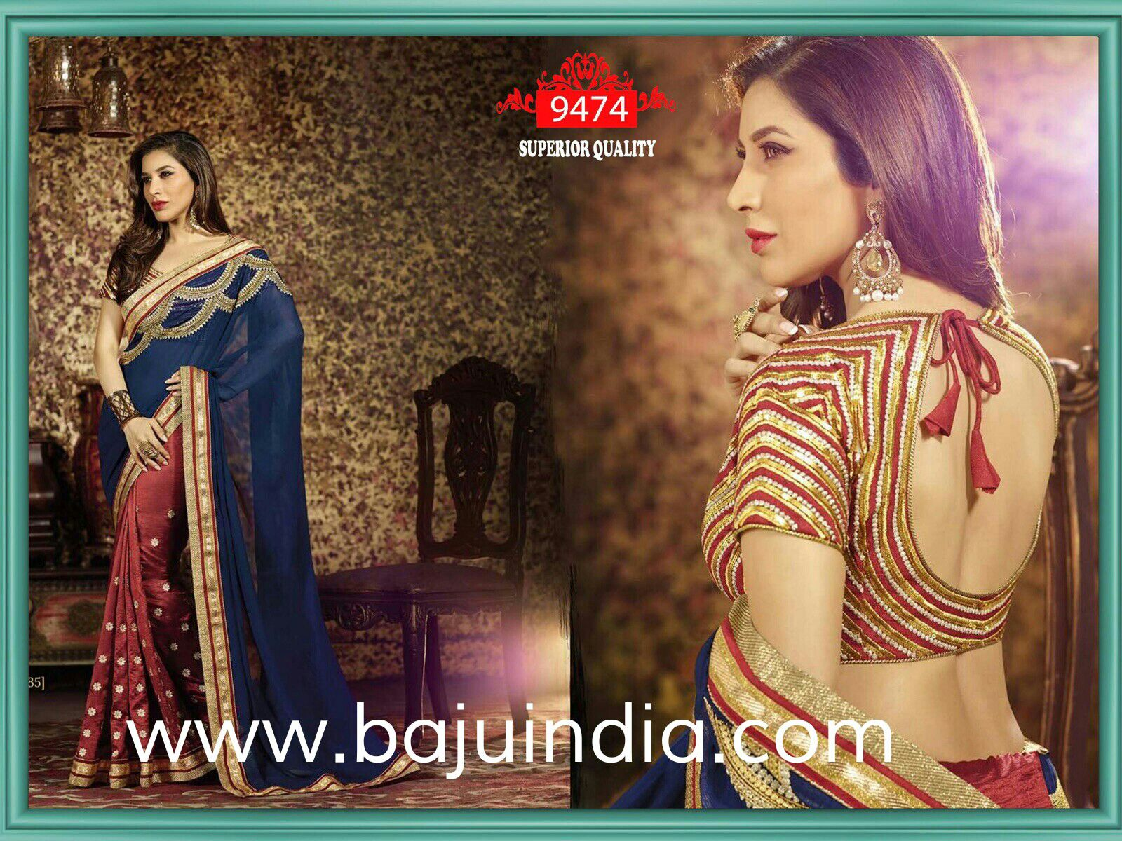 Baju India Muslim - Baju India Modern - Baju Khas India - Baju Adat India - Sari India Terbaru - Sari India Muslim - Baju Kerajaan India - Baju Salwaar India - SQ 9474