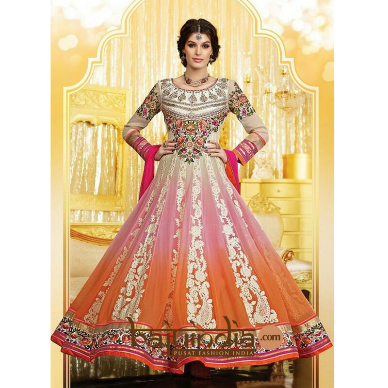 Baju India Muslim - Baju India Modern - Baju Khas India - Baju Adat India - Sari India Terbaru - Sari India Muslim - Baju Kerajaan India - Baju Salwaar India – PEACH-002