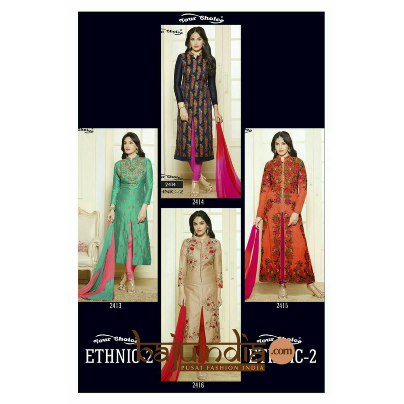 Baju India Muslim - Baju India Modern - Baju Khas India - Baju Adat India - Sari India Terbaru - Sari India Muslim - Baju Kerajaan India - Baju Salwaar India – ETHNIC-2