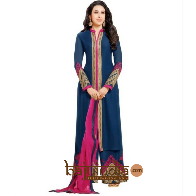 Baju India Muslim - Baju India Modern - Baju Khas India - Baju Adat India - Sari India Terbaru - Sari India Muslim - Baju Kerajaan India - Baju Salwaar India – SA-BLUE