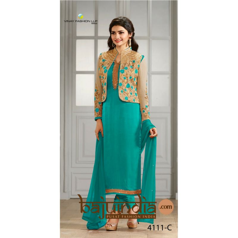 Baju India Muslim - Baju India Modern - Baju Khas India - Baju Adat India - Sari India Terbaru - Sari India Muslim - Baju Kerajaan India - Baju Salwaar India – 4111-C