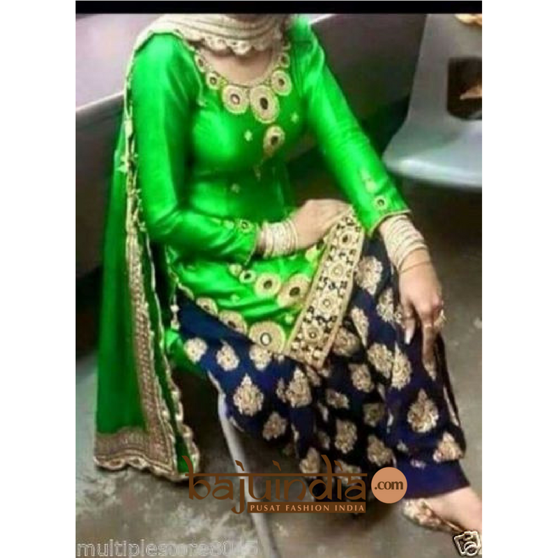 Baju India Muslim - Baju India Modern - Baju Khas India - Baju Adat India - Sari India Terbaru - Sari India Muslim - Baju Kerajaan India - Baju Salwaar India – SAREE HIJAU
