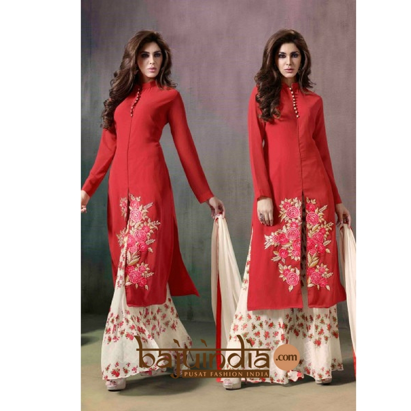 Baju India Muslim - Baju India Modern - Baju Khas India - Baju Adat India - Sari India Terbaru - Sari India Muslim - Baju Kerajaan India - Baju Salwaar India – BEST SELLER - palazzo suit 1117