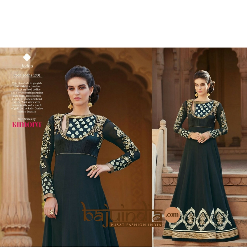 Baju India Muslim - Baju India Modern - Baju Khas India - Baju Adat India - Sari India Terbaru - Sari India Muslim - Baju Kerajaan India - Baju Salwaar India – Kimora original  - 1301