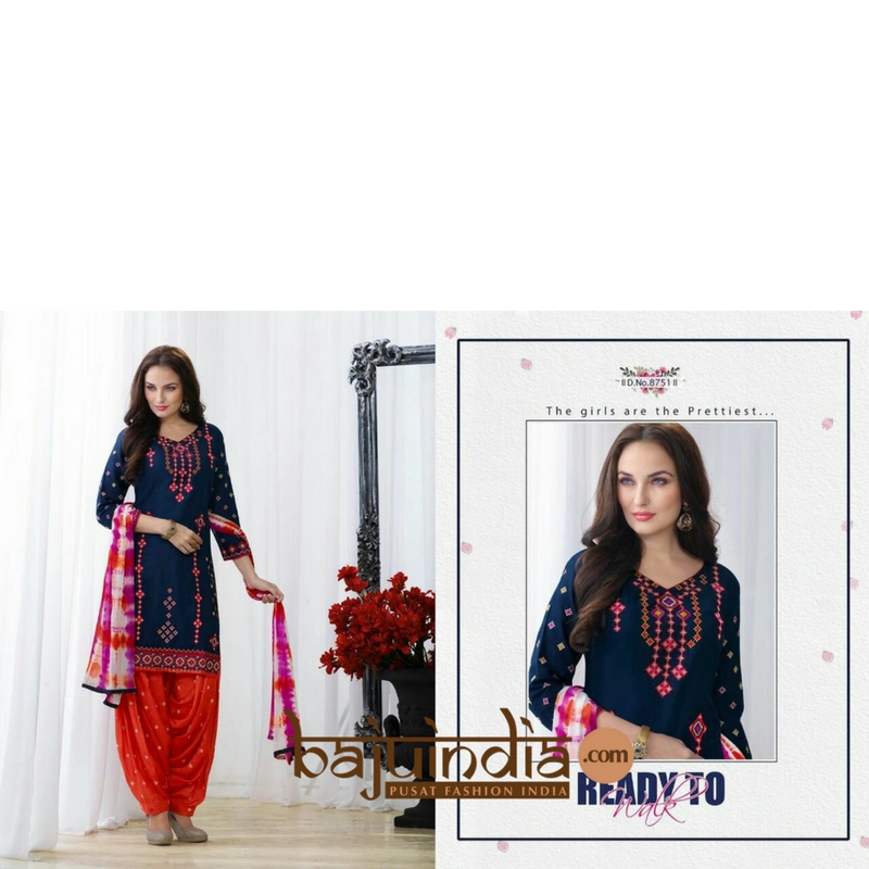 Baju India Muslim - Baju India Modern - Baju Khas India - Baju Adat India - Sari India Terbaru - Sari India Muslim - Baju Kerajaan India - Baju Salwaar India – Patiala - 8751