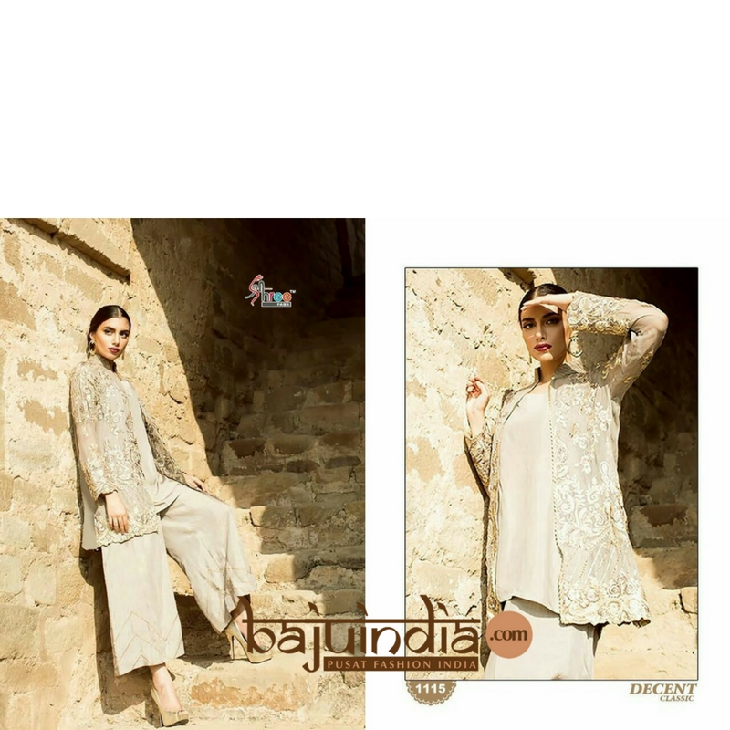 Baju India Muslim - Baju India Modern - Baju Khas India - Baju Adat India - Sari India Terbaru - Sari India Muslim - Baju Kerajaan India - Baju Salwaar India – Shree - decent 1115