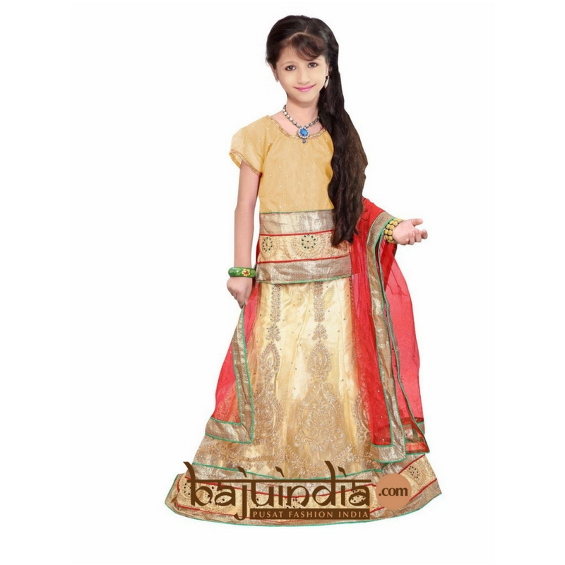 Baju India Muslim - Baju India Modern - Baju Khas India - Baju Adat India - Sari India Terbaru - Sari India Muslim - Baju Kerajaan India - Baju Salwaar India –  Kids lehngha  - 1009