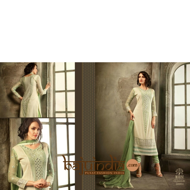 Baju India Muslim - Baju India Modern - Baju Khas India - Baju Adat India - Sari India Terbaru - Sari India Muslim - Baju Kerajaan India - Baju Salwaar India –  L - 30004