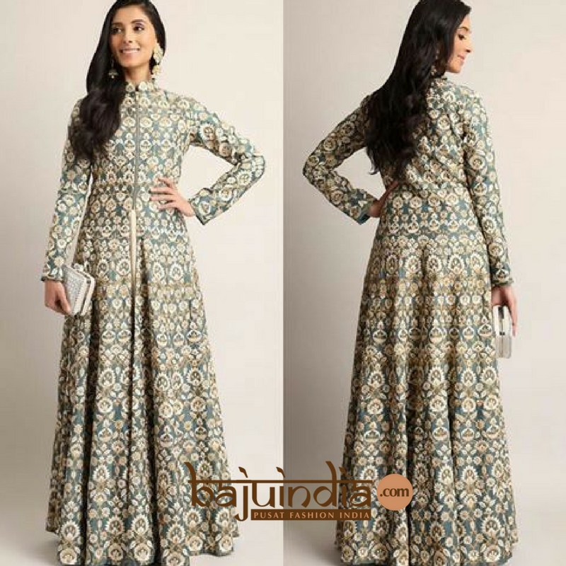 Baju India Muslim - Baju India Modern - Baju Khas India - Baju Adat India - Sari India Terbaru - Sari India Muslim - Baju Kerajaan India - Baju Salwaar India –BI - 122 A