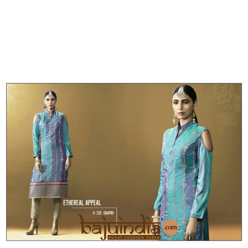 Baju India Muslim - Baju India Modern - Baju Khas India - Baju Adat India - Sari India Terbaru - Sari India Muslim - Baju Kerajaan India - Baju Salwaar India –  K-335