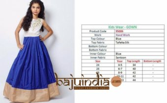 Kids wear – gown 95006