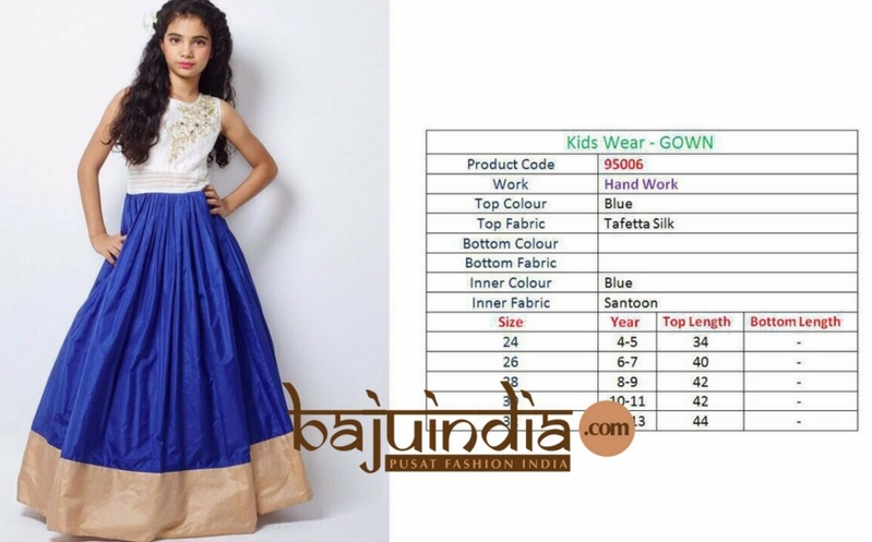 Baju India Muslim - Baju India Modern - Baju Khas India - Baju Adat India - Sari India Terbaru - Sari India Muslim - Baju Kerajaan India - Baju Salwaar India –  Kids wear - gown 95006