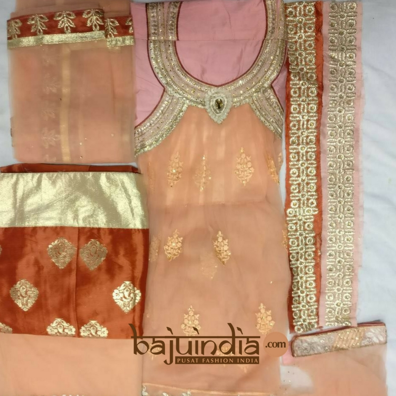 Baju India Muslim - Baju India Modern - Baju Khas India - Baju Adat India - Sari India Terbaru - Sari India Muslim - Baju Kerajaan India - Baju Salwaar India –  Zoya - 16004