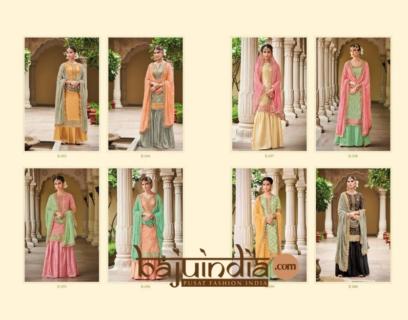 Baju India Muslim - Baju India Modern - Baju Khas India - Baju Adat India - Sari India Terbaru - Sari India Muslim - Baju Kerajaan India - Baju Salwaar India –  K-033 kuning abu all