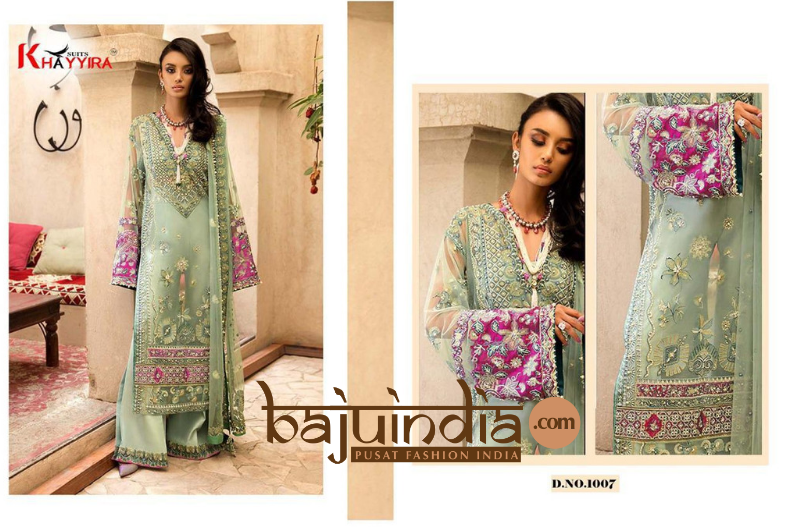 Baju India Muslim - Baju India Modern - Baju Khas India - Baju Adat India - Sari India Terbaru - Sari India Muslim - Baju Kerajaan India - Baju Salwaar India – D.NO.1007